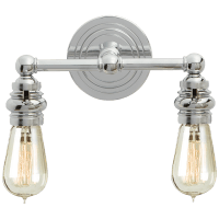 Boston Functional Double Light in Chrome