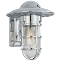 Marine Indoor/Outdoor Wall Light in Chrome with Clear Glass