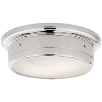 Siena Large Flush Mount in Polished Nickel with White Glass