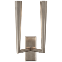 Galahad Double Sconce in Antique Nickel