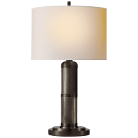 Longacre Small Table Lamp in Bronze with Natural Paper Shade