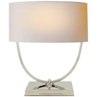 Kenton Desk Lamp in Polished Nickel with Natural Paper Shade