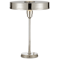 Carlo Table Lamp in Polished Nickel