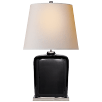 Mimi Table Lamp in Black with Natural Paper Shade