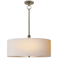 Reed Hanging Shade in Antique Nickel with Natural Paper Shade