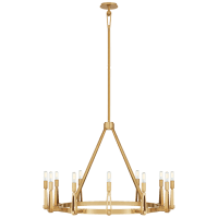 Alpha Grande Chandelier in Hand-Rubbed Antique Brass