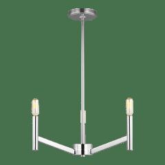 Vector Three Light Chandelier Chrome