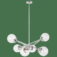 Tierney Six Light Chandelier Chrome