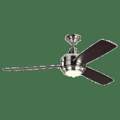 "56"" Aerotour - with Dark Mahogany Blades Polished Nickel"