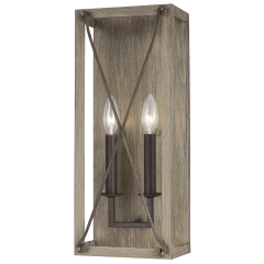 Thornwood Two Light Wall / Bath Sconce Washed Pine