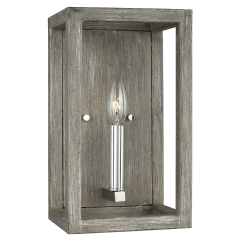 Moffet Street One Light Wall / Bath Sconce Washed Pine