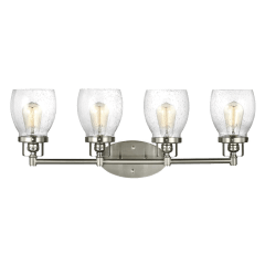 Belton Four Light Wall/ Bath Brushed Nickel Bulbs Inc