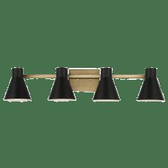 Towner Four Light Wall / Bath Satin Brass Bulbs Inc
