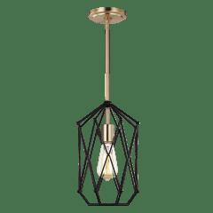 Zarra Small One Light Lantern Satin Brass