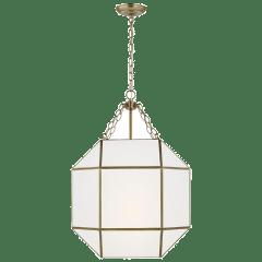 Morrison Medium Three Light Lantern Satin Brass