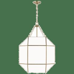 Morrison Large Four Light Lantern Satin Brass