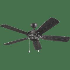 """60"""" Cyclone Outdoor Fan -  Matte Black"""