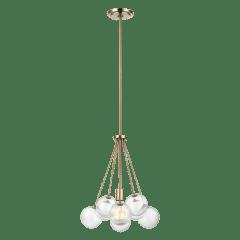 Bronzeville One Light Pendant Satin Brass