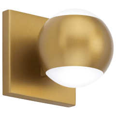 Oko 1-Light Wall/Bath 1 Light aged brass 3000K 90 CRI led 90 cri 3000k 120v