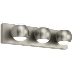 Oko 3-Light Bath 3 Light satin nickel 3000K 90 CRI led 90 cri 3000k 120v