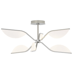 Belterra 30 Flushmount/Chandelier 30 polished nickel 3000K 90 CRI integrated led 90 cri 3000k 120v