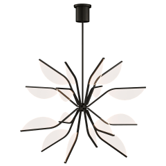 "Belterra 38 Globe Chandelier 38"" Globe Matte Black 3000K 90 CRI integrated led 90 cri 3000k 120v"