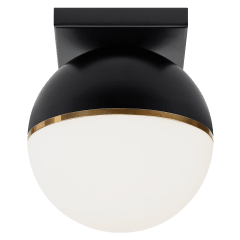 Akova Flush Mount Matte Black/Aged Brass 2700K 90 CRI  led 90 cri 2700k 120v