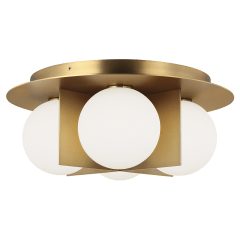 Orbel Ceiling aged brass no lamp