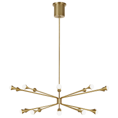 Lody 20-Light Chandelier 20-LIGHT aged brass 3000K 90 CRI integrated led 90 cri 3000k 120v-277v unv (t20/t24)