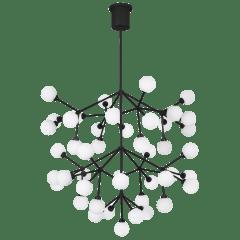 Mara Grande Chandelier White matte black 2700K 90 CRI
