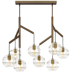 Sedona Double Chandelier Double Clear Aged Brass no lamp