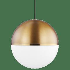 Akova Grande Pendant Aged Brass/Bright Brass no lamp