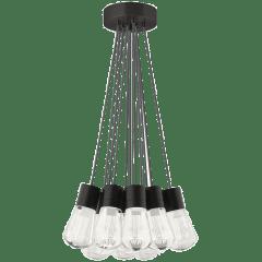 Alva Pendant 11-LITE Chandelier Gray Black 2200K 90 CRI led 90 cri 2200k 120v (t24)