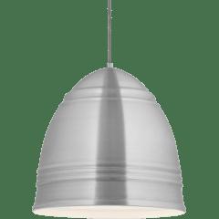 Loft Grande Pendant Brushed Aluminum w/ White Interior no lamp