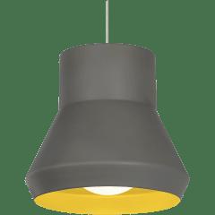 Milo Pendant Gray Outside/Chartreuse inside no lamp