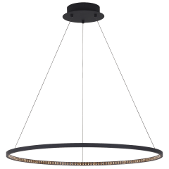 "Vellavi 36 Chandelier 36"" Diameter nightshade Black 2200K 90 CRI integrated led 90 CRI 2200k 120v-277v"