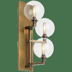 Gambit Triple Wall Triple Clear Aged Brass no lamp