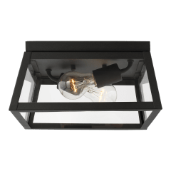 Founders Two Light Outdoor Flush Mount Black
