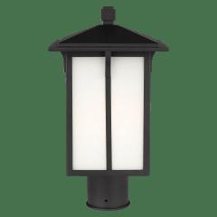 Tomek One Light Outdoor Post Lantern Black