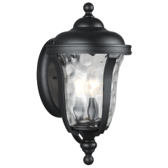 Perrywood Medium Three Light Outdoor Wall Lantern Black