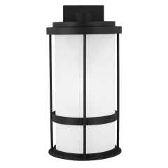 Wilburn Large One Light Outdoor Wall Lantern Black