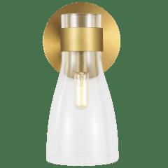 Moritz One Light Sconce Burnished Brass