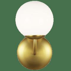 Galassia One Light Vanity Burnished Brass