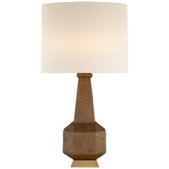 Babette Table Lamp in Chalk Burnt Gold with Linen Shade