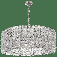 Sanger Grande Chandelier in Polished Nickel with Crystal