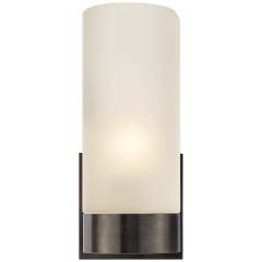 Urbane Sconce in Bronze with Frosted Glass