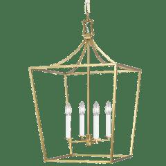 Southold Medium Lantern Burnished Brass