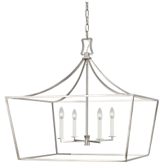 Southold Wide Lantern Polished Nickel