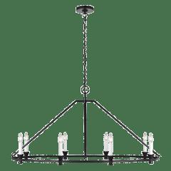 Keystone Oval Chandelier Aged Iron