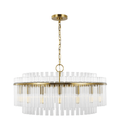 Beckett Large Chandelier Burnished Brass